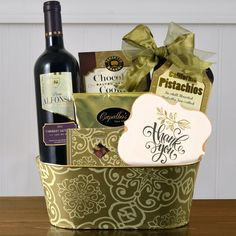 Much Appreciated Red Wine Gift Basket $37.99	Item # 247-KD