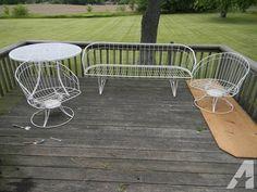 Vintage Patio Furniture For Sale | Vintage 1960u0027s Homecrest Patio Furniture  For Sale In Footville .