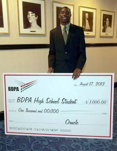 BDPA Foundation: Oracle Scholarship Winner: Anthony Coleman (BDPA ...