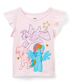 Add a dose of colorful fun to your little one's day with this tee, splashed with a friendly favorite character across its front. My Little Pony, Little Ones, Bnf, Pink Blue, Tees, Mens Tops, Colorful, Character, T Shirts