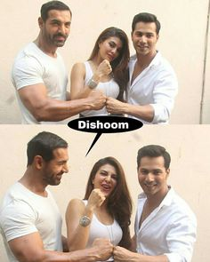 It's a Wrap for Team #Dishoom Double Tap if you are excited about #Dishoom Dishoom is an upcoming Indian action-adventure film directed by Rohit Dhawan and produced by Sajid Nadiadwala under Nadiadwala Grandson Entertainment. It stars John Abraham Varun Dhawan Jacqueline Fernandez and Saqib Saleem in lead roles. The music is composed by Pritam Chakraborty. @BOLLYWOOD Dishoom Directed by #RohitDhawan Produced by #SajidNadiadwala Written by #MilapMilanZaveri Screenplay by #RohitDhawan Story by…