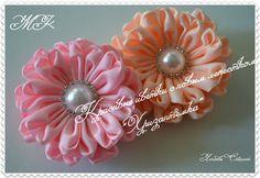 """Большие цветки с новым лепестком """" Хризантемка""""/Красивые резиночки на хв..."""