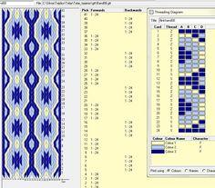 Flinkhand 8 . Diseño para 24 tarjetas, 3 colores, repite dibujo cada 8 movimientos   // Band08 ༺❁