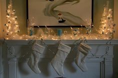 christmas mantel lights decorations