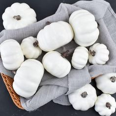 White pumpkins take regular fall decorating up a notch, letting your home feel festive while looking refined and polished. These pumpkins would make a nice addition to your centerpiece or your mantle! Grab them while they're still in stock, these will go fast!