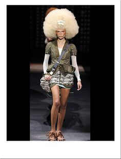 Extra Large Blonde Fashion Afro Wig #Catwalk #Runway #Carwash #Party #Chic #LouisVuitton #Hair #Hairstyle