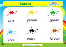 Colors vocabulary video