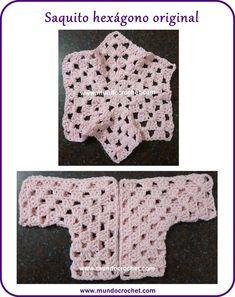 Crochet baby hexagon jacket: how to change the size