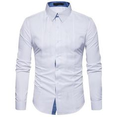 New Style Trend Men's Shirts 2017 Spring Autumn Long-Sleeved Workwear High Quality Cotton Slim Fit Dress Shirt Chemise Homme