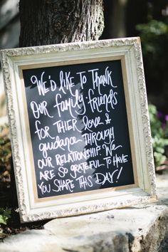 Adorable wedding sign: http://www.stylemepretty.com/california-weddings/los-angeles/2014/10/20/romantic-pastel-calimigos-ranch-wedding/ | Photography: Happy Confetti - http://www.happyconfettiphotography.com/