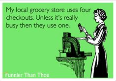 Grocery Store Checkout Comic  LOVE this one!