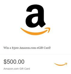 Win a $500.00 Amazon.com e-Gift Card. By clicking all the Entry Multipliers, you are essentially giving yourself 5 entries per day. We strongly recommend doing this.