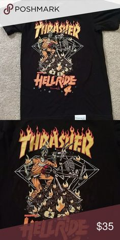 4282652741 Thrasher x Diamond shirt RARE 2015 Thrasher x Diamond Halloween shirt  limited edition Tops Tees - Short Sleeve