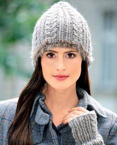 Описание вязания на спицах шапочки с «косами» из журнала «Verena. Модное вязание» №2/2014