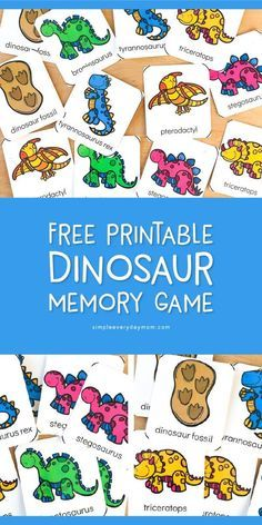 Dinosaur Theme Preschool Matching Game Young kids will love using these dinosaur flashcards as a simple memory game Its great to teach focus concentration visual memory. Dinosaur Classroom, Dinosaur Theme Preschool, Preschool Games, Preschool Lessons, Classroom Activities, Preschool Crafts, Toddler Activities, Preschool Kindergarten, Dinosaur Dinosaur
