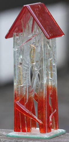 Møllehusets Glas: 13 - rødt hus - 22 cm