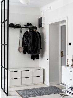 Home Decoration Hall Entryway 24 Best Ideas Decor, House Design, Interior, Open Closet, Small Space Inspiration, Hall Decor, Scandinavian Home, House Interior, Home Deco
