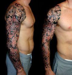 Artist: Luca Ortis #hannya #sleeve #tattoo #irezumi