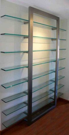 Contemporary glass and me - Deco How to Crafts Glass Wall Shelves, Floating Glass Shelves, Glass Shelf Brackets, Mounting Brackets, Contemporary Shelving, Contemporary Home Decor, Glass Furniture, Furniture Design, Showroom Interior Design