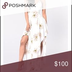 ISO white floral maxi dress In search of this dress in so small Fashion Nova Dresses Maxi