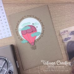 Tatiana Creative Stamping Adventure - CASEd Hi Friend card using the Above The Clouds Bundle by Stampin' Up! Stampin Up Catalog, Above The Clouds, Square Card, Cards For Friends, Card Sizes, Stampin Up Cards, Free Gifts, Balloons, Card Making