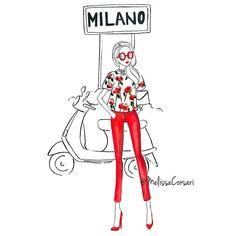 Love this old drawing of my beautiful city ❤    #fashionillustrator #melissacorsari #fashionillustrationsbymc #fashionillustration #fashionsketch #fashion #art #artist #artwork #illustration #milan #italy