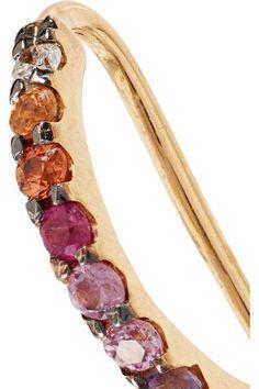 Ana Khouri Norah 18-karat Gold, Sapphire And Diamond Earrings