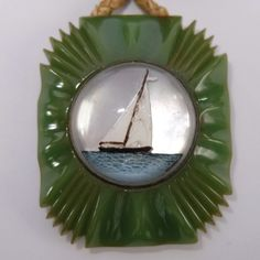 VINTAGE ART DECO CARVED BAKELITE & GLASS ESSEX CRYSTAL SAILBOAT BROOCH | Jewelry & Watches, Vintage & Antique Jewelry, Costume | eBay!