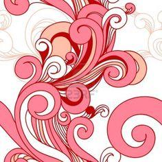 . Spirals, Patterns, Pink, Design, Block Prints, Pink Hair, Roses, Pattern