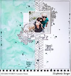 Does that count under monochrome .... {Scrapbooking, Studio Forty ...} - be more creative