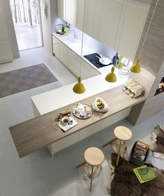 Kitchen / White / Wood /