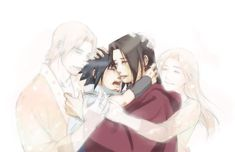 sasuke, itachi, fugaku and mikoto   Pixiv Id 1123412, NARUTO, Uchiha Sasuke, Uchiha Itachi, Uchiha Fugaku ... #uchiha #sasuke #itachi