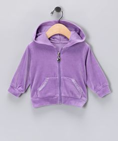 Must Have Zip Ups for fall/#zulily #fall/Amethyst Velour Zip-Up Hoodie - Infant