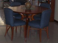 Juego De Comedor Redondo - Bs. 55.000,00 en MercadoLibre Blazers, Dining Chairs, Furniture, Home Decor, Round Dining, Game, Wood, Home, Dining Chair