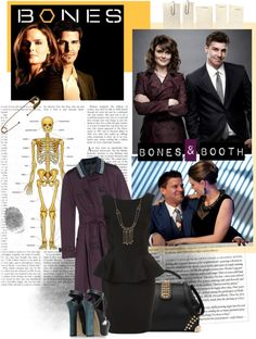 """Bones & Booth"" by dontstopmenow103 ❤ liked on Polyvore"