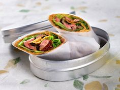 Wraps with beef Lunches And Dinners, Pulled Pork, Fresh Rolls, Beef Recipes, Pesto, Sandwiches, Tacos, Wraps, Appetizers
