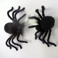 Halloween Magnet, Black Spiders, Halloween Toys, Cute Fridge Magnet, Handmade Black Funny Gifts, Holiday Souvenir