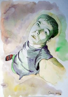 DmitrySonkin. self-portrait. watercolor