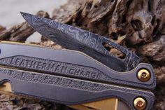 Leatherman Charge TTi Multi-Tool - Damascus Steel Series - 24k Gold. $230.00, via Etsy.