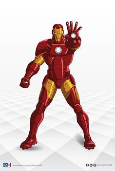Deadpool - Vector Illustration By Ruby Huma on Behance Marvel Avengers Assemble, Marvel Art, Marvel Heroes, Cartoon Pics, Cartoon Drawings, Cartoon Picture, Iron Man Death, Iron Man Cartoon, Avengers Cartoon