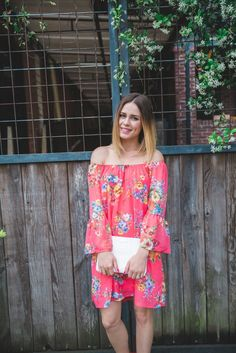 Off the shoulder Floral dress | Bell sleeves dress | Floral dress  | Uptown with Elly Brown