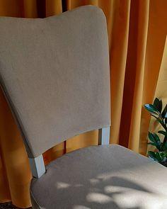 """5 """"Μου αρέσει!"""", 0 σχόλια - by ioulieta (@by_ioulieta) στο Instagram: """"#byioulieta #handmade #custommade #chaircovers"""" Chair Covers, Custom Made, Dining Chairs, Instagram, Handmade, Furniture, Home Decor, Chair Sashes, Hand Made"""
