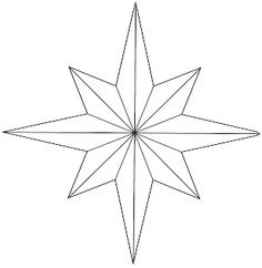 Hopemore: Eight point star template                                                                                                                                                                                 More