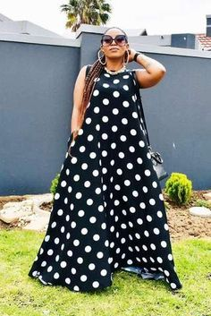 Available in all colours. African Fashion, Fashion Women, Steps Dresses, African Wear Dresses, Tumi, Dress Styles, Dot Dress, One Size Fits All, Flare Dress