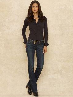 Jean bootcut classique - Blue Label Jeans - Ralph Lauren France