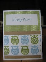 nursery nest paper from stampin up