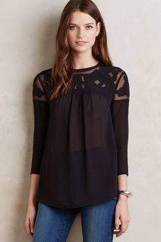 Lofty Lace Top - anthropologie.com