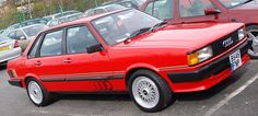 Audi 80 Sport - the same engine as the VW Golf GTI (but unlike the Golf the engine in the Audi was mounted longitudinally). This was target car in the mid 1980s, but a return to full time education put an end to that plan.