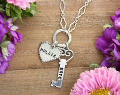 My favorite chain of ours right now, along with 2 of my favorite charms. This is so cute for a Christmas gift, or a gift for a mom of 2. Love it! -www.nelleandlizzy.com