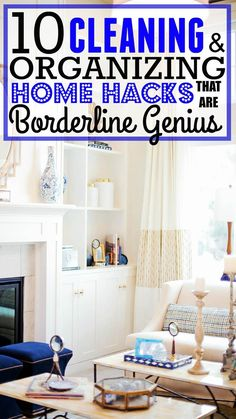 These 10 cleaning and organizing hacks are GENIUS! You have to try them out in your home THIS SPRING! Pinning for later!